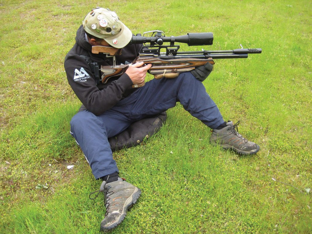 Calps showing the classic seating position used in Field Target