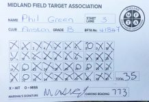Phil's Field Target Card